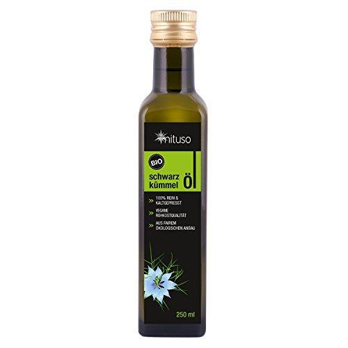 mituso Bio Schwarzkümmelöl, kaltgepresst, 1er Pack (1 x 250ml)