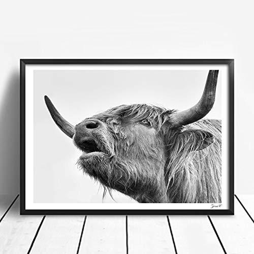 attle Poster und Drucke Wandkunst Nordic Leinwand Malerei Kuh Wandbilder Für Wohnzimmer Dekoration EIN 50x70 cm Kein Rahmen ()