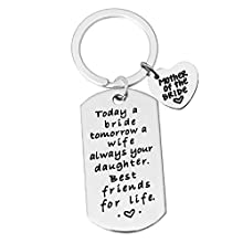 Wedding Gift Keyring Mother of The Bride Keyring Today a Bride, Tomorrow a Wife, Always Your Daughter. Best Friends for Life Keychain Mother of Bride Gift from Daughter