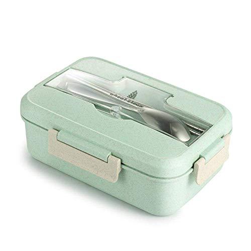 ZUEN Bento Box kann versiegelt Werden Mit Mikrowelle Oven Student mit Cover Simple Fach Frischfutter,Green Green Food Storage