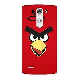 Premium Red Bird Yellow Beak Back Case Cover for LG G3 Beat