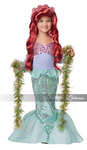 Seashell Kostüm Meerjungfrau - Meerjungfrau Kostüm Kind, Lil Mermaid 00015 (110/116)