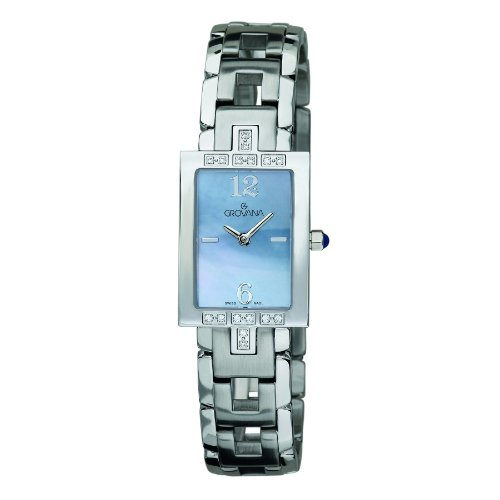 GROVANA 4560.7134 Women's Quartz Swiss Watch with Mother Of Pearl Dial Analogue Display and Silver Stainless Steel Bracelet