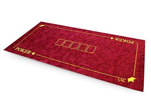 Texas Hold  Em Poker Rug Suede - 120 cm x 60 cm-Red