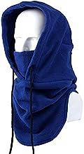 Tangmi® - Pasamontañas unisex de forro polar con capucha y máscara