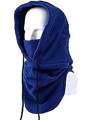 Tangmi® Masque Passe-montagne écharpe en polaire unisexe bleu