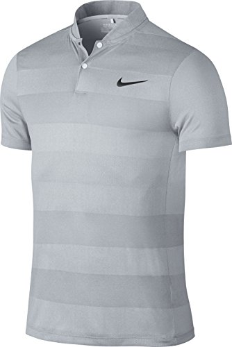Nike mm Fly Swing Knit Stripe Polo Herren XXL Grau/Schwarz