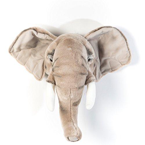 Elefante George - Peluche como decoración de pared en el cuarto de...