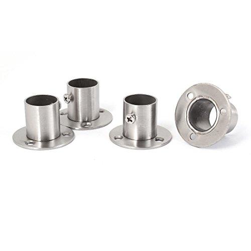 4 Stück Kleiderschrank Spurstangenkopf Kleiderstange Halterung für 22mm Rohr (Rohr-flansch-tool)