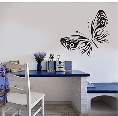 Lyiting Allein Schöne Schwarze Schmetterling Wandaufkleber Schlafzimmer Wohnzimmer Tv Hintergrund Pared Decor Aufkleber (70X50 Cm)