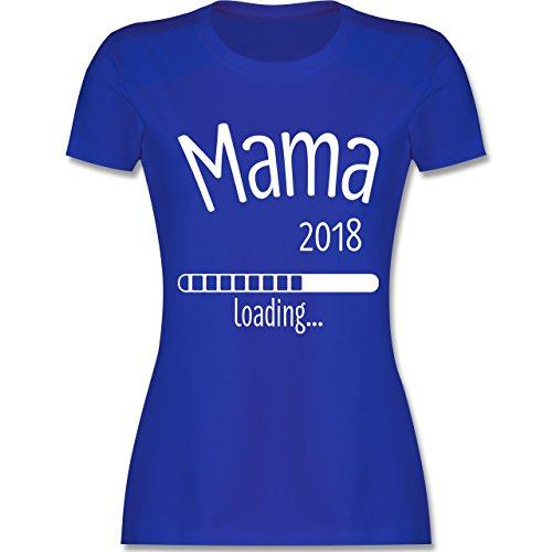 Schwangerschaft - Mama 2018 loading - tailliertes Premium T-Shirt mit Rundhalsausschnitt für Damen Royalblau