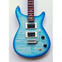 Guitarra en miniatura decorativa guitarra PRS -Trem CB 25cm hecho a mano en madera # 127