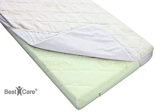 bestcarer-2-in-1-coprimaterasso-per-bambini-traspirante-e-lenzuolo-due-in-uno-coprimaterasso-confort