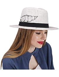 IWGR Sombrero Fedora de Paja para Mujer y Sombrero de Sol para niñas a la  Playa a52a044b85f