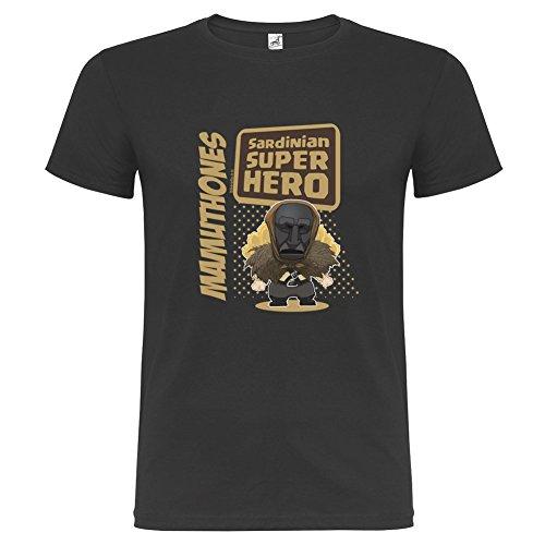 T-Shirt manica corta Unisex Mamuthones By Bikerella NERO/COLOR