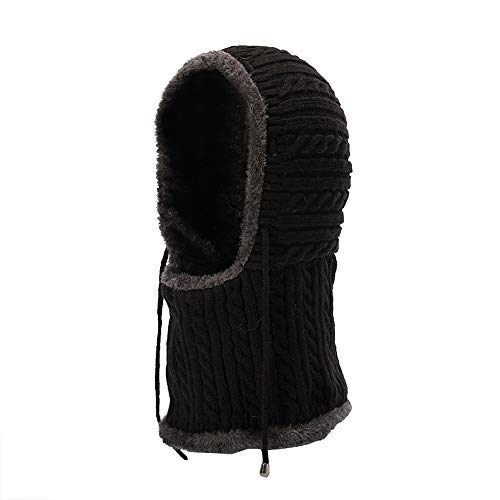 Unisex Herren/Frauen Winter Warme Mütze Stricken Winter Gestrickte Verdicken Loop Schal und Hut Set Winter Warme Mütze Stricken Chunky Zopfmuster Pom Pom Beanie Set (Schnelle Wrap-uhr-band)