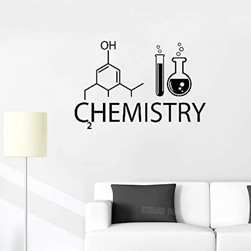guijiumai Moleküle Chemie Vinyl Wandtattoo Labor Schule Klasse Raumdekoration Kreative Wandaufkleber Wissenschaft Schlafzimmer Wohnkultur Rosa 63X42 cm - Pink-martini-weihnachten