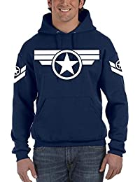 Capitán América Steve Rogers Marvel Navy - Sudadera con Capucha ...