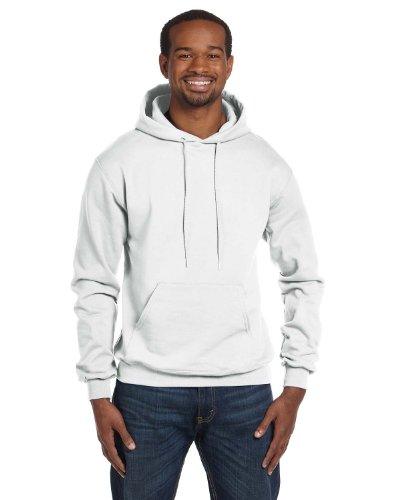 Champion Double Dry Action Fleece Pullover Hood Sweats White M