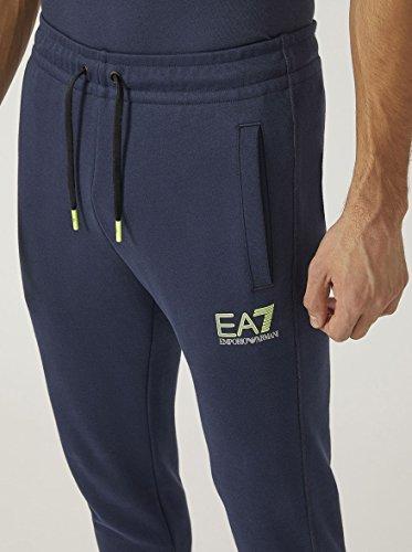 EA7 Uomo Joggers con logo riflettente, Blu Blu