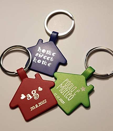 Coppia portachiavi personalizzabile inaugurazione casa