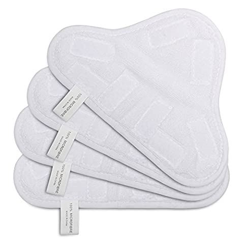 OuyFilters Replacement Washable Microfiber Steam Mop Pads Cleaner Floor Pads Covers For H2O H20 X5 (9.8 x 7