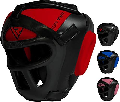 RDX Zero Impact Grill-X Leder Kopfschutz, abnehmbarer Gesichtsschutz