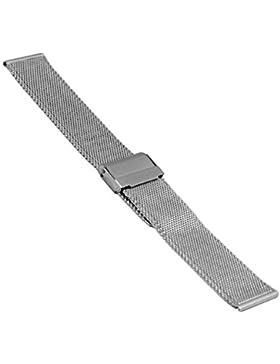 Uhrenarmband, Edelstahl, Milanaise, 20804, 20 mm