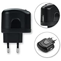 subtel® Chargeur USB (100V - 250V) pour GoPro HD Hero 960, 1080, HD Hero 2, Hero 3, 3+, Hero 4 Silver, Hero 5 Black, Hero 6, Hero Session - 5V / 1A, 1000mA - 1 sortie USB, Adaptateur de charge USB, USB Wall Charger