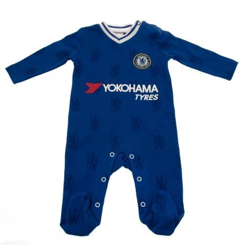 Official Chelsea FC Baby Kit Sleepsuit/Babygrow - 2016/17 Season (0-3months)