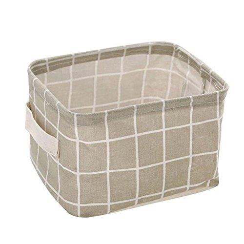 smileq faltbar Korb platzsparend Closet Spielzeug Box Container Organizer Stoff Lagerplatz, grau, 7.9x 5.9x 4.72 inches (Möbel Lagerung Körbe)