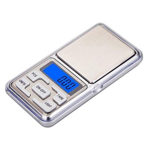Pantalla LCD digital precisa y de fácil lectura. Galgas extensométricas de alta precisión, buena calidad, más fiabilidad. El apagado automático ahorra batería. Peso en g/oz/tl/ct/ Con indicador de tara, batería baja o sobrecarga. Con material ABS ...