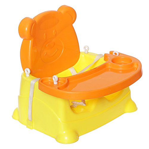 NHR 5 In 1 Multipurpose Booster Baby Chair (Feeding Chair/ High Chair, Baby Swing, Car Seat And Bath Seat) -orange