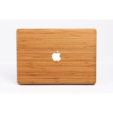 Carcasa de madera WOODWE para Apple Macbook Air Pro de 11 13 15 pulgadas – Cubierta para la parte superior de madera de nogal - Real Wood Macbook Case (Macbook Air 13,