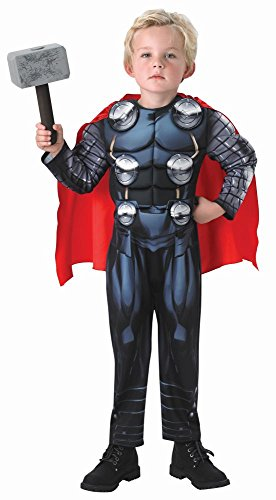 Marvel Avengers Kinder Kostüm Thor Deluxe mit Hammer Gr.M(5-6J.) (Thor Deluxe Kostüme)