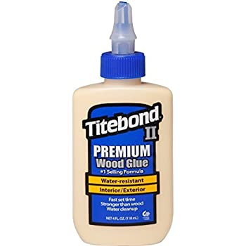 Titebond II Premium Wood Glue Wood Glue Strong Size: 500 – 2 fl oz (118 ml), 1 Piece, For Professional Use