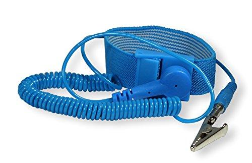 Preisvergleich Produktbild Scotle Rework ESD Armband mit Anschlussspiralkabelund Püchelstecker, RW-ABAE