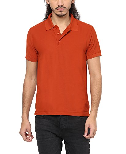 American Crew Men's Polyester Polo Collar Desert Brown T-Shirt - 3XL (AC485-3XL)  available at amazon for Rs.299