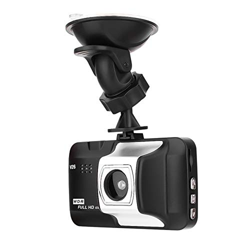 Peanutaod Solo lente 1080P HD 5MP Coche DVR Pantalla DE 3,0 Pulgadas 140 Grads de lente Gran Angular Grabadora de datos del automóvil Grabadora (Easy Screen Recorder)
