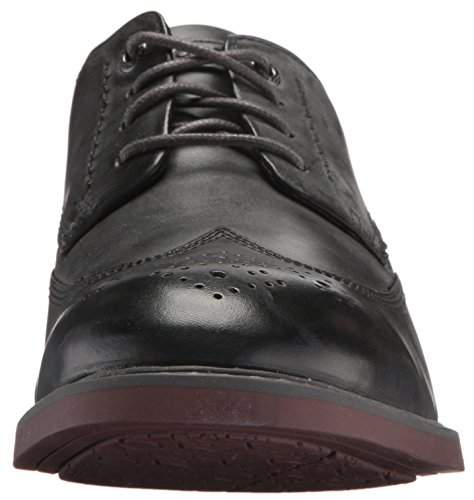 Rockport Mens Tailoring Guide Wingtip Oxford- Dark Shadow Leather