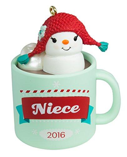 Kakao Tasse und Marshmallow Schneemann Ornament Familie ()