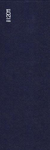 Baier & Schneider Buchkalender Geschäftsbuch, Kunststoff Miradur, dunkelblau, 110 mm x 297 mm, 384