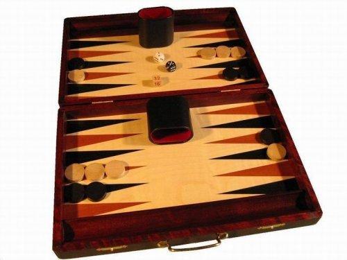 Backgammon Grande Madera de Caoba Junta Juego