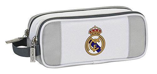 Real Madrid – Portatodo doble, color gris (Safta 811624513)