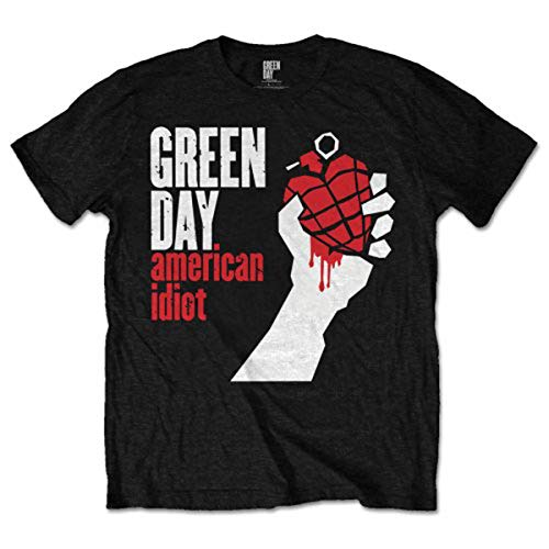 Green Day Herren American Idiot T-Shirt, Schwarz, S -
