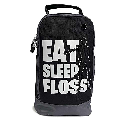 Doodleman Eat Sleep Floss Gamer Gaming School Football Rugby Sports Boot Bag Black