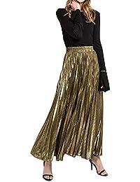 enorme sconto 934cd 257e9 Amazon.it: gonna lunga - Oro / Donna: Abbigliamento