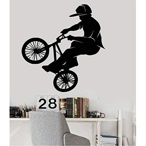Hwhz 86 X 90 Cm Diy Tapete Mode Vinyl Pvc Wandtattoo Fahrrad Bmx Sport Extreme Wandaufkleber Wohnkultur Wandbild