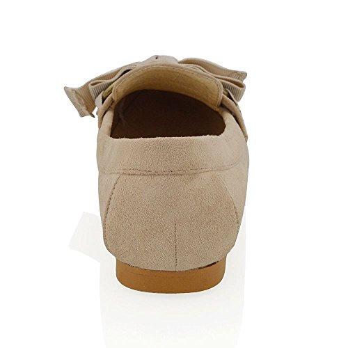 Essex Glam Femme Work Mocassin Femme Slip Slip Sur Faux Suede Chaussures En Cuir