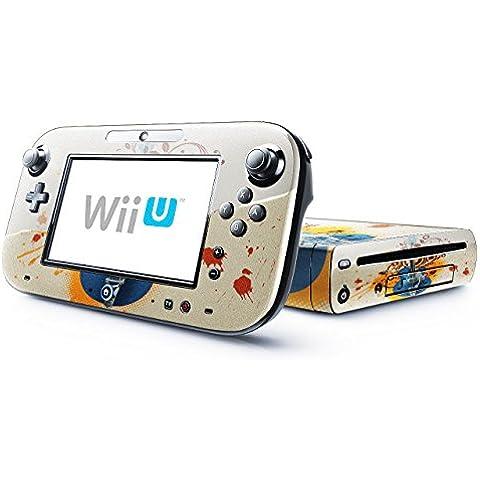 Mia Musica 10001, Chitarra, Skin Autoadesivo Sticker Adesivi Pelle Cover Decal Set con Disegno Strutturato con Nintendo Wii U